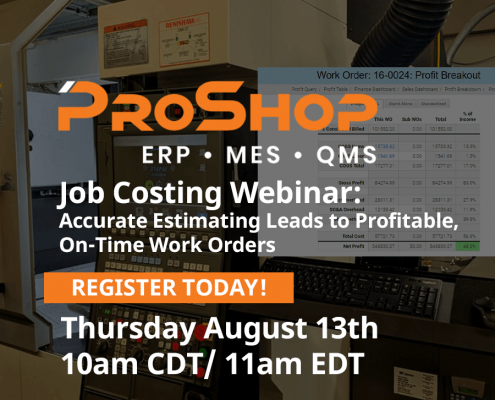 ProShop Job costing webinar